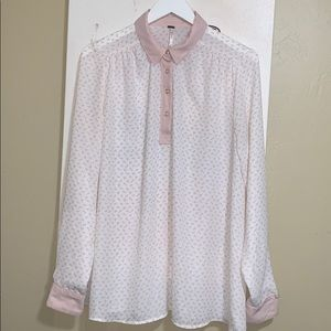 FREE PEOPLE EQUESTRIAN SOFT PINK TOP
